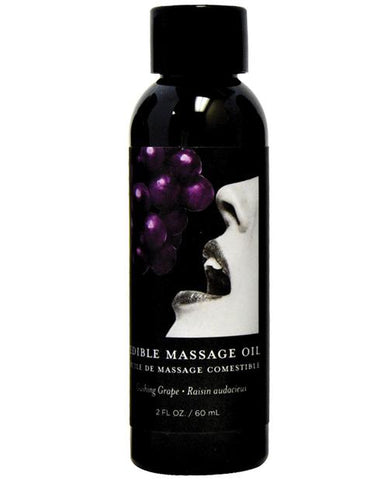 Earthly Body Edible Massage Oil - 2 Oz-Massage Products-Earthly Body-Grape-Slightly Legal Toys
