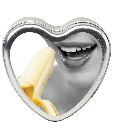 Earthly Body Sun Touched Edible Candle - Heart Tin 4.7 Oz-Setting The Mood-Earthly Body-Banana-Slightly Legal Toys