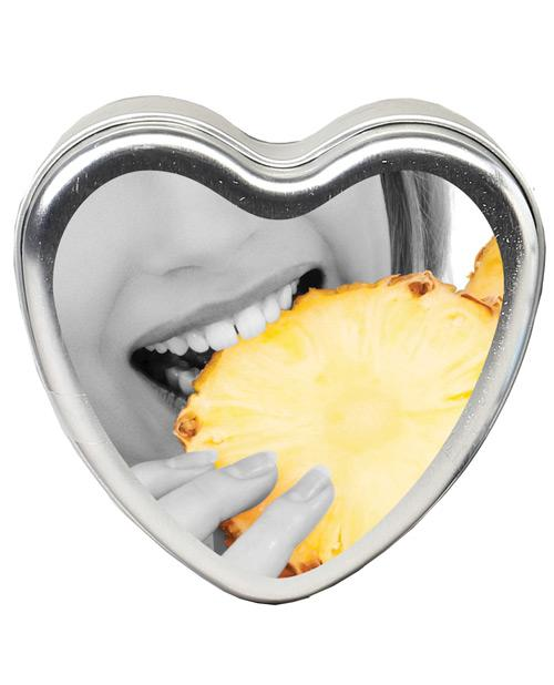 Earthly Body Sun Touched Edible Candle - Heart Tin 4.7 Oz-Setting The Mood-Earthly Body-Pineapple-Slightly Legal Toys