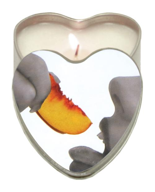 Earthly Body Sun Touched Edible Candle - Heart Tin 4.7 Oz-Setting The Mood-Earthly Body-Peach-Slightly Legal Toys
