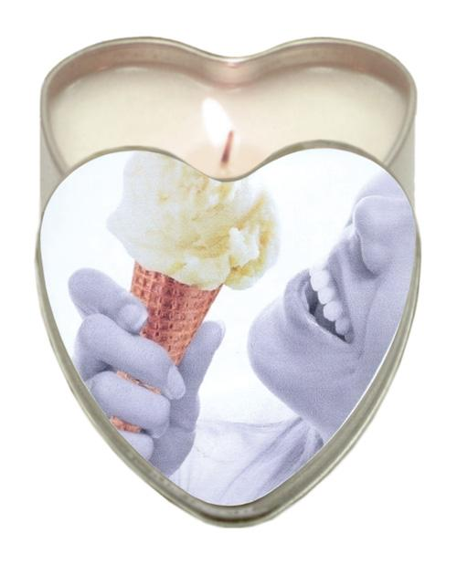 Earthly Body Sun Touched Edible Candle - Heart Tin 4.7 Oz-Setting The Mood-Earthly Body-Vanilla-Slightly Legal Toys
