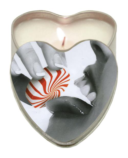Earthly Body Sun Touched Edible Candle - Heart Tin 4.7 Oz-Setting The Mood-Earthly Body-Mint-Slightly Legal Toys