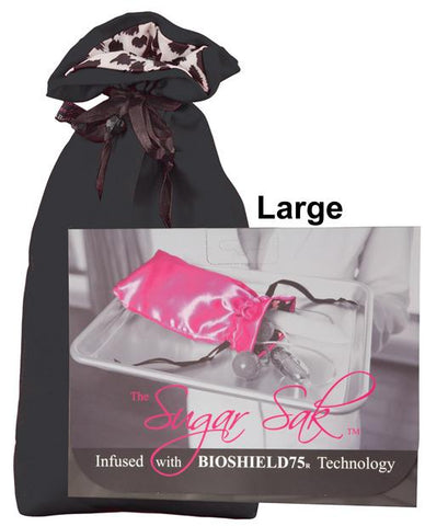 Sugar Sak Anti-bacterial Toy Bag-Storage Cases & Bags-Sugar N Spice Boutique-Large/Black-Slightly Legal Toys