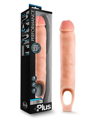 Blush Performance Plus Silicone Cock Sheath Penis Extender - Slightly Legal Toys - Blush Performance Plus Silicone Cock Sheath Penis Extender Extensions, Flesh, silicone Blush Novelties