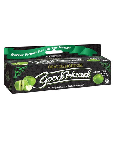 GoodHead Oral Gel - 4 Oz-Sexual Enhancers-Doc Johnson-Delicious Green Apple-Slightly Legal Toys