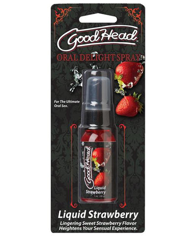 GoodHead Oral Delight Spray-Sexual Enhancers-Doc Johnson-Liquid Strawberry-Slightly Legal Toys