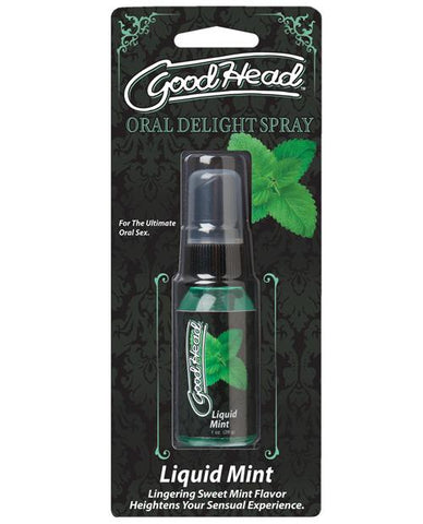 GoodHead Oral Delight Spray-Sexual Enhancers-Doc Johnson-Liquid Mint-Slightly Legal Toys