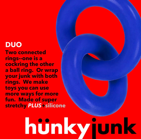 Hunky Junk Duo Linked Cock & Ball Rings
