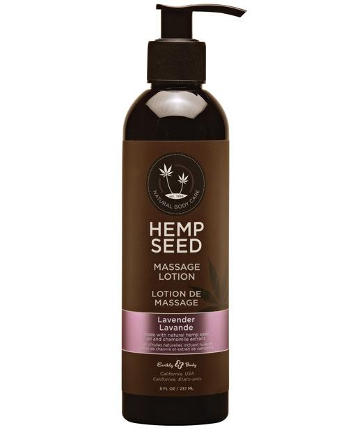 Earthly Body Hemp Seed Massage Lotion-Massage Products-Earthly Body-Lavender-8 oz.-Slightly Legal Toys