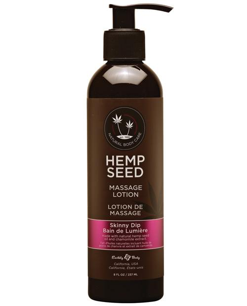 Earthly Body Hemp Seed Massage Lotion-Massage Products-Earthly Body-Skinny Dip-8 oz.-Slightly Legal Toys