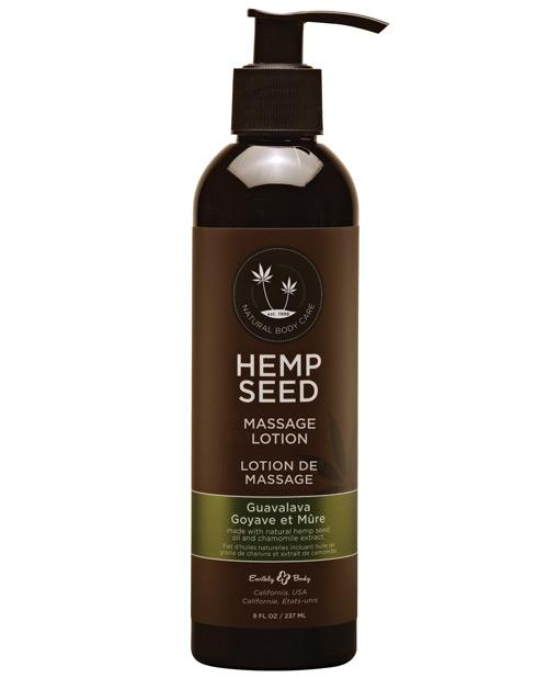 Earthly Body Hemp Seed Massage Lotion-Massage Products-Earthly Body-Guavalava-8 oz.-Slightly Legal Toys