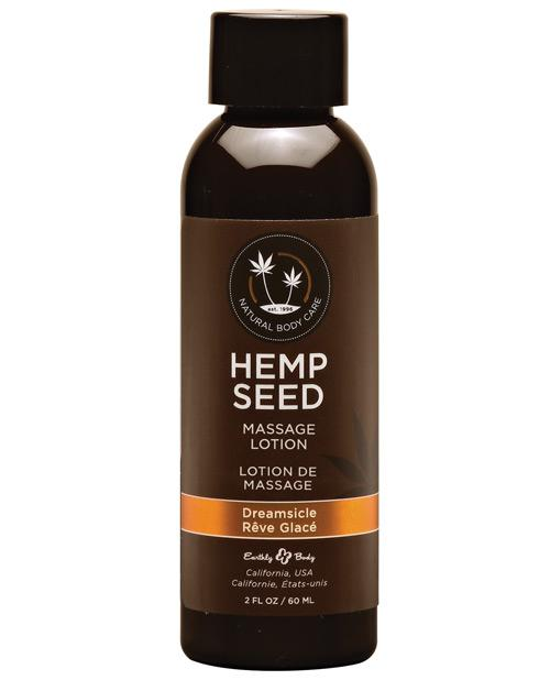 Earthly Body Hemp Seed Massage Lotion-Massage Products-Earthly Body-Dreamsicle-2 oz.-Slightly Legal Toys