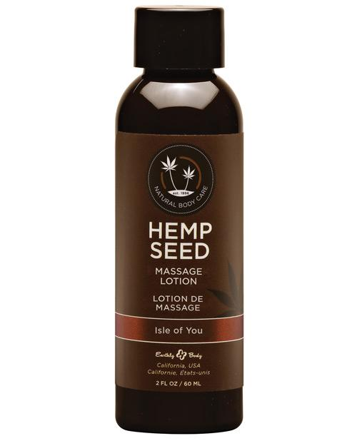 Earthly Body Hemp Seed Massage Lotion-Massage Products-Earthly Body-Isle of You-2 oz.-Slightly Legal Toys