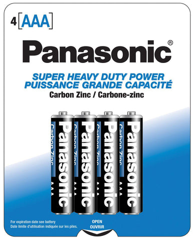 Panasonic Super Heavy Duty Battery AAA - Pack Of 4-Batteries-Power Technology-Slightly Legal Toys
