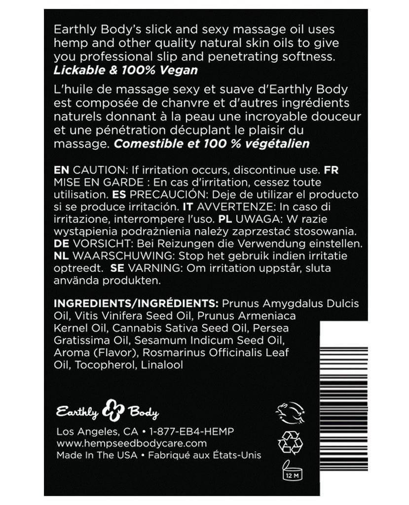 Earthly Body Edible Massage Oil - 2 Oz-Massage Products-Earthly Body-Slightly Legal Toys
