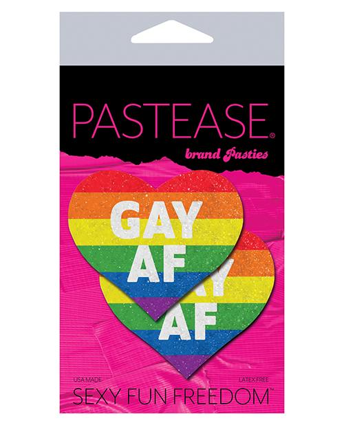 Pastease Gay Af - Rainbow O-s - Slightly Legal Toys - Pastease Gay Af - Rainbow O-s adhesive, Bag, Pasties, poly spandex blend, RBW - Rainbow Pastease