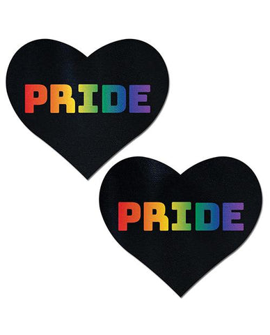 Pastease Pride  - Rainbow-black O-s - Slightly Legal Toys - Pastease Pride  - Rainbow-black O-s adhesive, Bag, Pasties, poly spandex blend, RBW - Rainbow Pastease