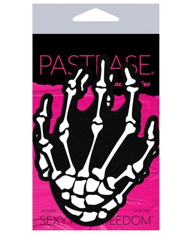 Pastease Skeleton Hands - White O-s - Slightly Legal Toys - Pastease Skeleton Hands - White O-s Pasties, WH - White Pastease