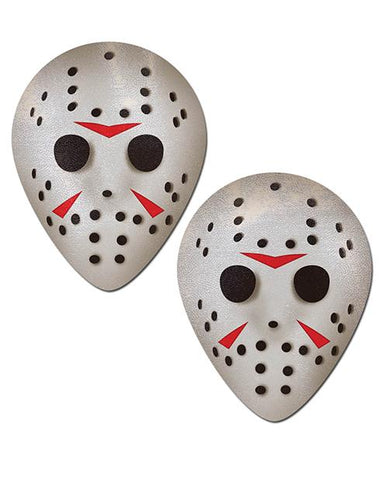 Pastease Scary Halloween Hockey Mask  - White O-s