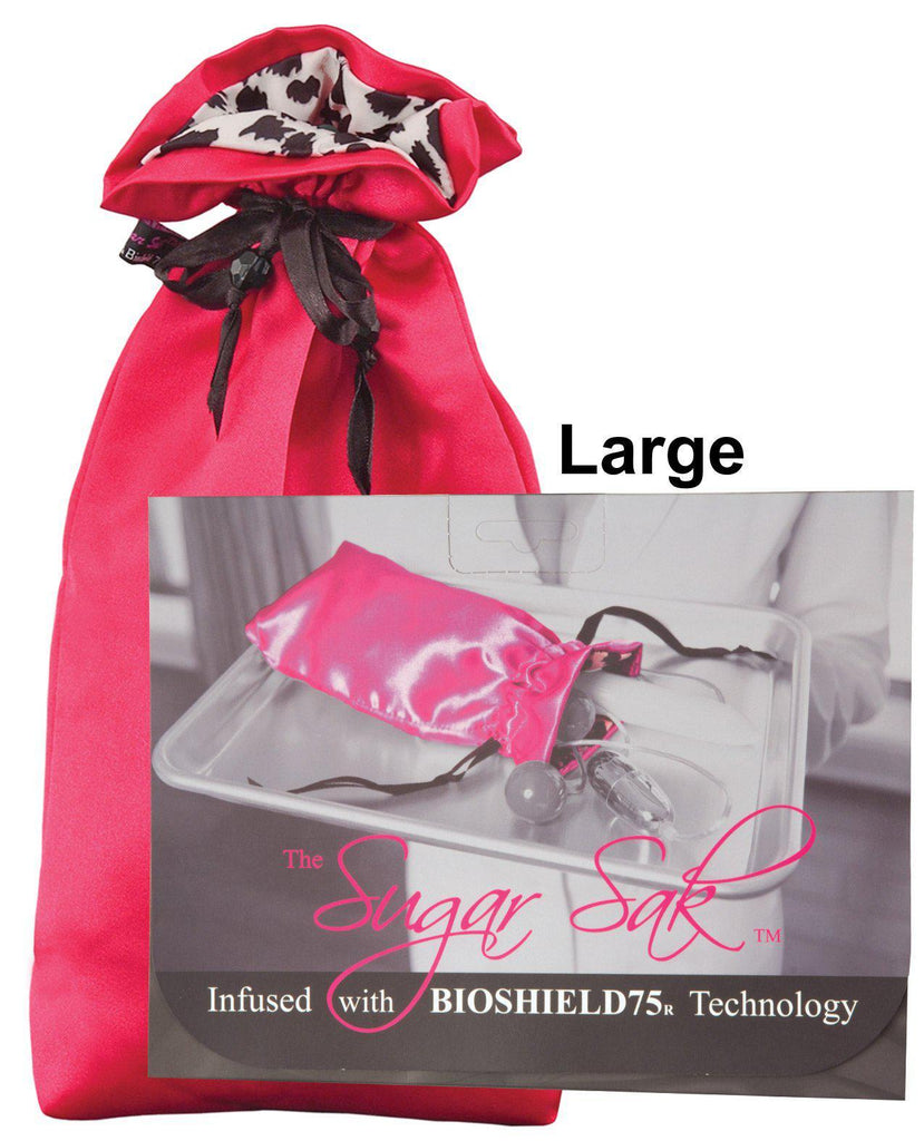 Sugar Sak Anti-bacterial Toy Bag-Storage Cases & Bags-Sugar N Spice Boutique-Large/Red-Slightly Legal Toys