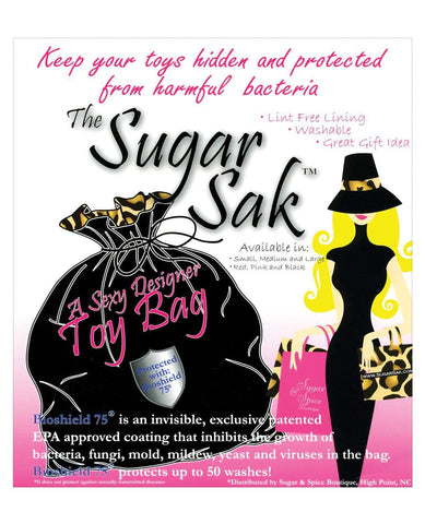 Sugar Sak Anti-bacterial Toy Bag-Storage Cases & Bags-Sugar N Spice Boutique-Slightly Legal Toys