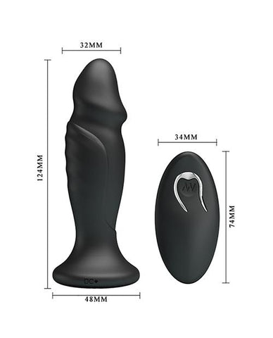 Mr. Play Phallic Powerful Vibrating Anal Plug w/Remote