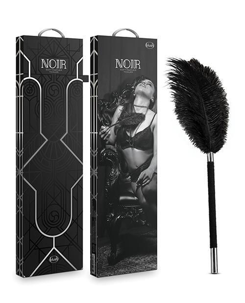 Blush Noir Soft Feather Tickler - Black