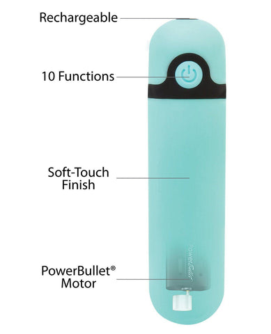 Simple & True Rechargeable Vibrating Bullet - Teal-Stimulators-B.M.S. Enterprises-Slightly Legal Toys