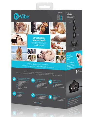 b-Vibe Triplet Remote Control Rechargeable Anal Beads