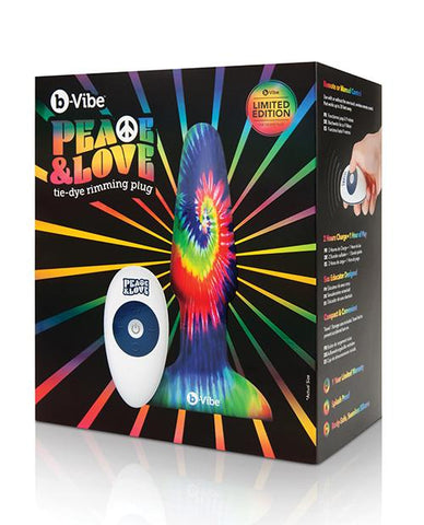 b-Vibe Peace & Love Tie-Dye Rimming Plug