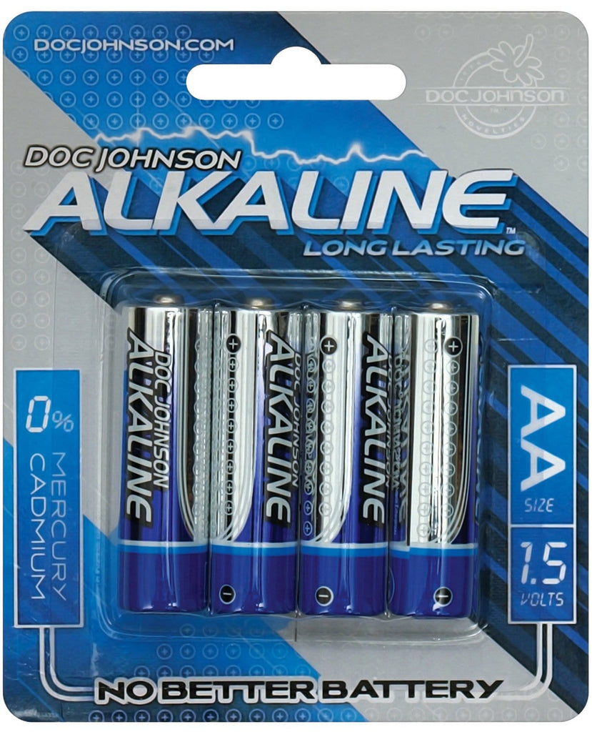 Doc Johnson Alkaline Batteries - AA 4 Pack-Batteries-Doc Johnson-Slightly Legal Toys