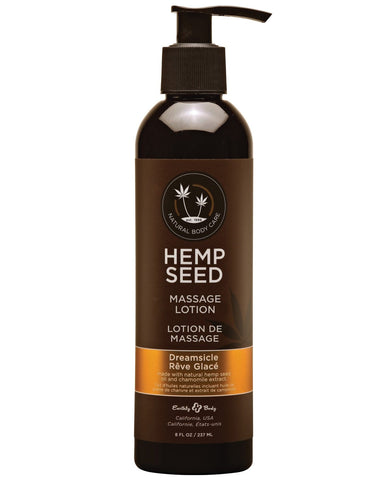 Earthly Body Hemp Seed Massage Lotion-Massage Products-Earthly Body-Dreamsicle-8 oz.-Slightly Legal Toys