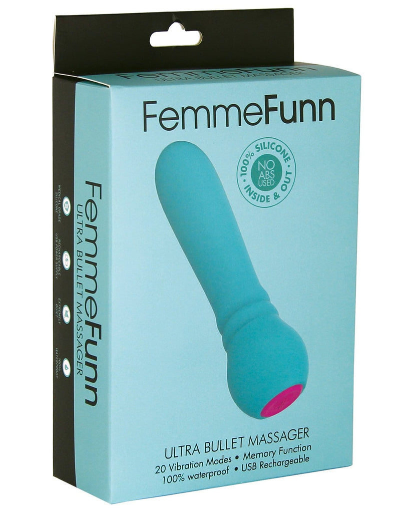Femme Funn Ultra Bullet Massager-Stimulators-Vvole LLC-Turquoise-Slightly Legal Toys