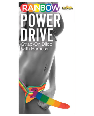 "Rainbow 7"" Strap On Dildo W-harness-Gay & Lesbian Products-Hott Products-Slightly Legal Toys"