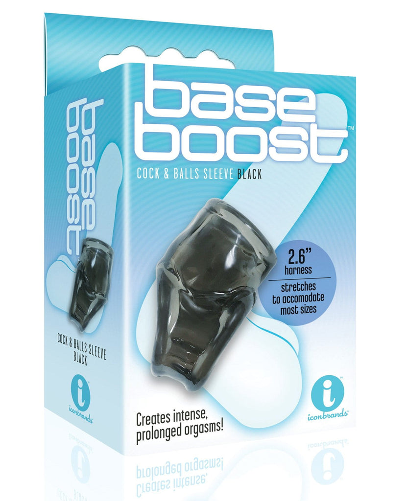 The 9's Base Boost Cock & Balls Sleeves-Penis Enhancement-Icon Brands INC-Black-Slightly Legal Toys