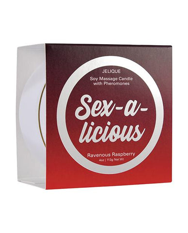 Jelique Massage Candle - 4 Oz Sex-a-licious Ravenous Raspberry