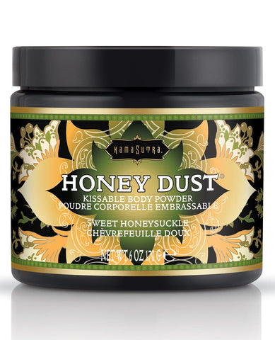 Kama Sutra Honey Dust - 6 Oz-Body Toppings & Edibles-Kama Sutra-Sweet Honeysuckle-Slightly Legal Toys