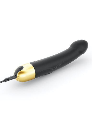 "Dorcel Real Vibration M 8.6"" Rechargeable Vibrator 2.0 - Black-gold - Slightly Legal Toys - Dorcel Real Vibration M 8.6"" Rechargeable Vibrator 2.0 - Black-gold BGD - Black/Gold, Box, Realistics, silicone Lovely Planet"
