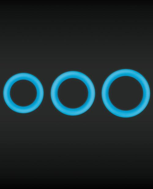 Firefly Halo Glow-in-the-Dark Cock Rings - Slightly Legal Toys - Firefly Halo Glow-in-the-Dark Cock Rings BL - Blue, Cockrings & Lassos, firefly, silicone Ns Novelties INC