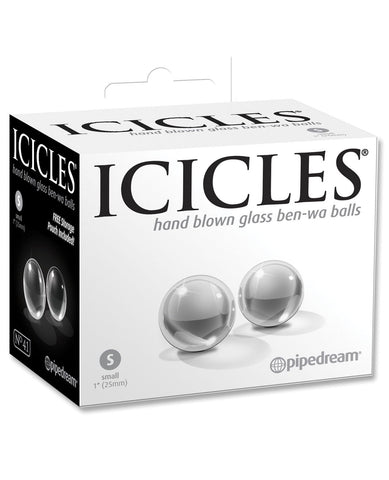 Icicles Hand Blown Glass Ben-Wa Balls-Stimulators-Pipedream Products-Small - Icicles No. 41-Slightly Legal Toys