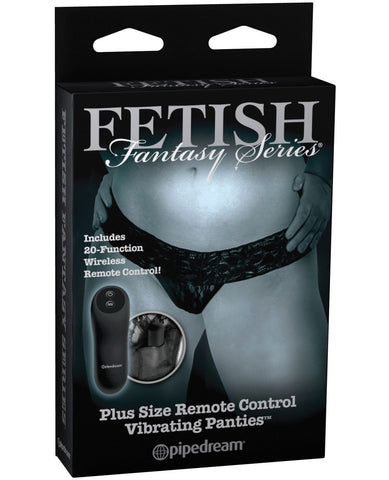 Fetish Fantasy Plus Size Limited Edition Remote Control Vibrating Panties-Stimulators-Pipedream Products-Slightly Legal Toys