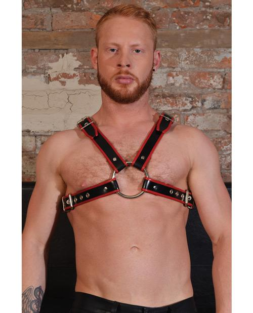 Rouge Chest Harness Large - Slightly Legal Toys - Rouge Chest Harness Large Body Harnesses, genuine_leather, metal Rouge Group Ltd