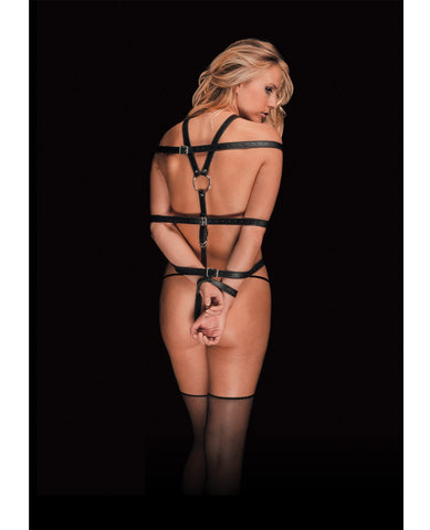 Shots Ouch Calida Pretty Perfection Female Body Harness-Bondage Blindfolds & Restraints-Shots America LLC-Slightly Legal Toys