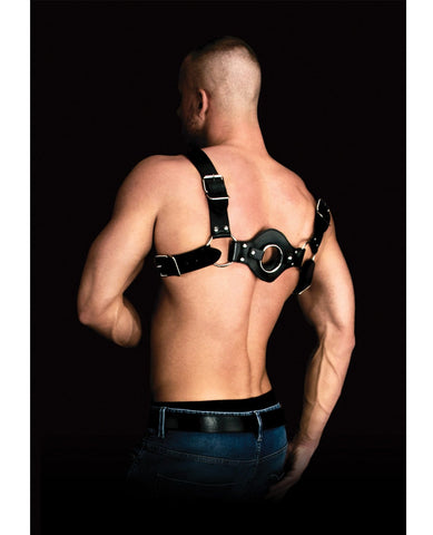 Shots Ouch Costas Solid Structure 1 Body Harness - Black-Bondage Blindfolds & Restraints-Shots America LLC-Slightly Legal Toys