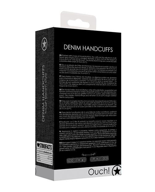 Shots Ouch Demin Handcuffs - Black