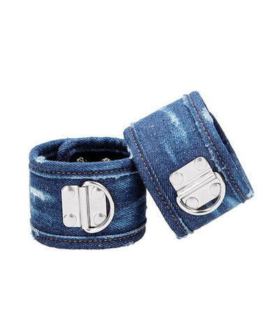 Ouch! Denim Ankle Cuffs - Blue