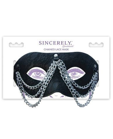 Sincerely Chained Lace Mask-Bondage Blindfolds & Restraints-Sportsheets International-Slightly Legal Toys