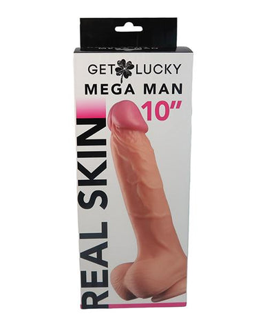 "Voodoo Get Lucky 10"" Real Skin Series Mega Man - Flesh - Slightly Legal Toys - Voodoo Get Lucky 10"" Real Skin Series Mega Man - Flesh Box, IV - Ivory, Realistic, silicone Thank Me Now INC"