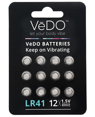VeDO LR41 Batteries - 1.5V Pack Of 12-Batteries-Savvy Co.-Slightly Legal Toys