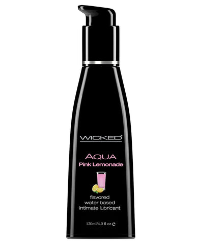 Wicked Sensual Care Aqua Waterbased Lubricant - Flavors-Lubricants-Wicked Sensual Care-Pink Lemonade-4 Oz-Slightly Legal Toys
